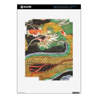 Pintura del dragón en el techo coreano de Sungnyem Pegatinas Skins Para iPad 3