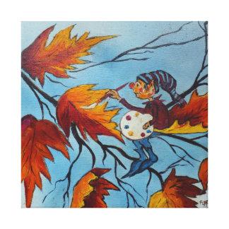 Pintura del duendecillo de la pintura de Ana Hayes Impresión En Lienzo Estirada