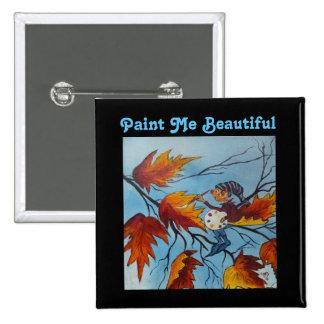 Pintura del duendecillo de la pintura de Ana Hayes Pin Cuadrado
