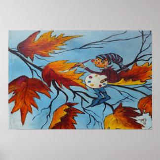 Pintura del duendecillo de la pintura de Ana Hayes Póster