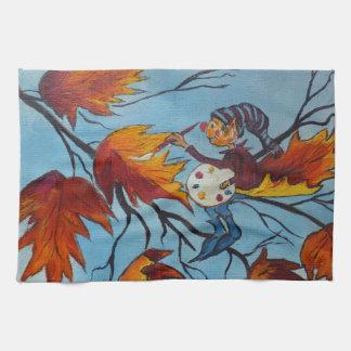Pintura del duendecillo de la pintura de Ana Hayes Toallas