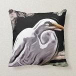 pintura del egret cojin