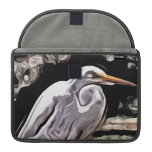 pintura del egret fundas para macbooks
