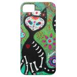 PINTURA DEL EL GATO CAT DIA DE LOS MUERTOS NURSE iPhone 5 FUNDA