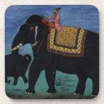 Pintura del elefante posavasos de bebida