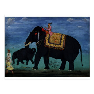 Pintura del elefante postal