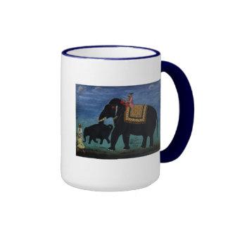 Pintura del elefante taza
