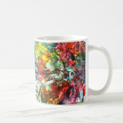 pintura del enchufe cosechada taza de café
