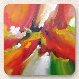 Pintura del expresionismo abstracto posavaso