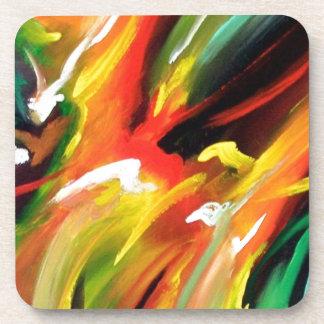 Pintura del expresionismo abstracto posavasos