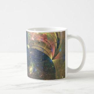 Pintura del extracto del espacio exterior, taza