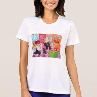 Pintura del fiesta de la cocina de Labrador Camisetas