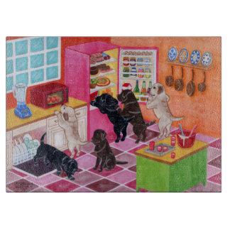 Pintura del fiesta de la cocina de Labrador Tablas De Cortar