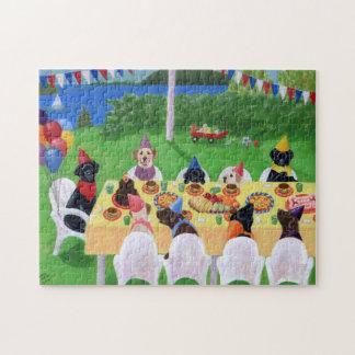 Pintura del fiesta de Labrador Rompecabezas