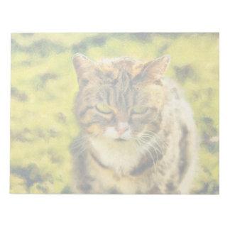 Pintura del gato bloc de notas