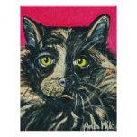 Pintura del gato de calicó por el Milo de Ania M Plantilla De Membrete