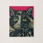 Pintura del gato de calicó por el Milo de Ania M Rompecabeza