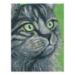Pintura del gato de Tabby por el Milo de Ania M Membretes Personalizados