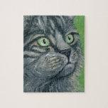 Pintura del gato de Tabby por el Milo de Ania M Puzzles