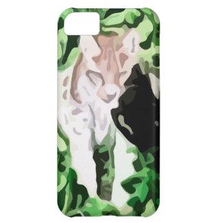 pintura del gato del lince funda para iPhone 5C