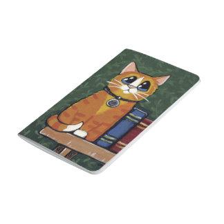 Pintura del gato y de los libros de Tabby del Cuadernos Grapados