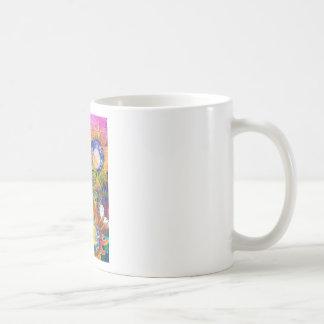Pintura del girasol del collage de las técnicas mi tazas de café