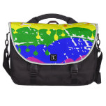 Pintura del goteo del arco iris apenada bolsas para portátil