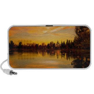 pintura del iPad del lago sunset