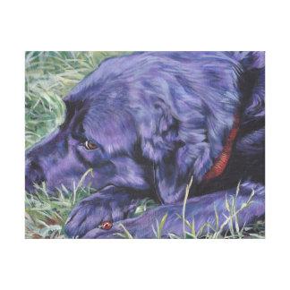 Pintura del labrador retriever en lona envuelta impresión en lienzo