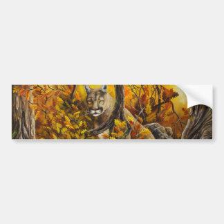 Pintura del león de montaña en productos adaptable pegatina para auto