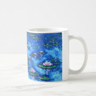 Pintura del lirio de agua, arte de la flor, flores taza clásica