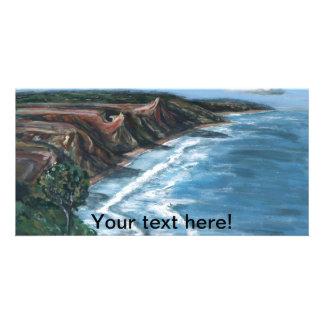 Pintura del mar tarjetas fotograficas personalizadas