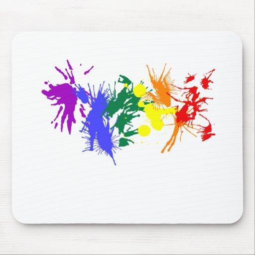 Pintura del orgullo gay alfombrillas de ratones