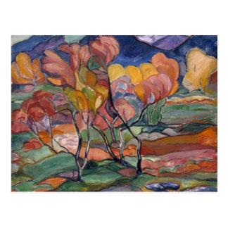 Pintura del otoño tarjeta postal