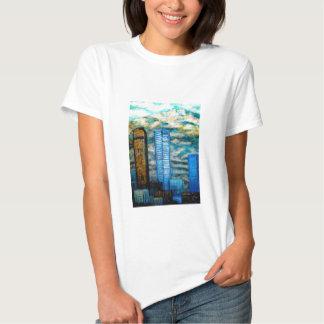 Pintura del paisaje urbano de Denver, ropa de la Camisas