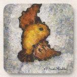 Pintura del pájaro del Monet-Estilo de Frida Kahlo Posavasos De Bebida