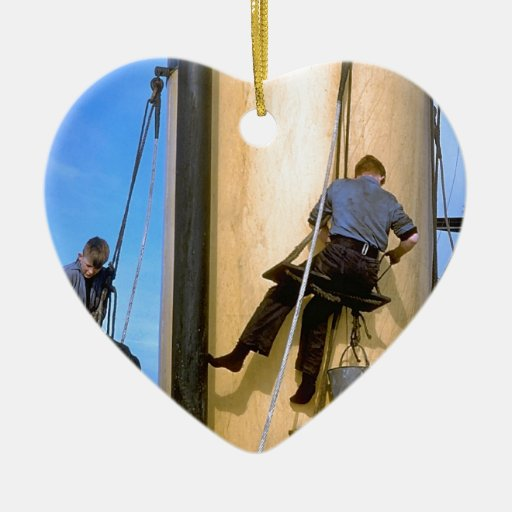 Pintura del palo a bordo de los TS Arethusa Adorno De Cerámica En Forma De Corazón
