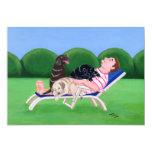 Pintura del papá de Labrador Invitación 12,7 X 17,8 Cm