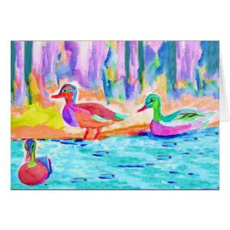 Pintura del pato tarjeta de felicitación