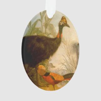 Pintura del pavo real del vintage
