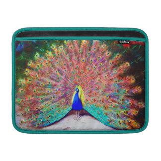 Pintura del pavo real del vintage fundas macbook air