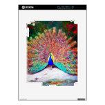 Pintura del pavo real del vintage iPad 2 skins