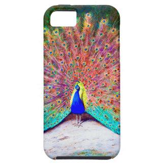 Pintura del pavo real del vintage iPhone 5 carcasa