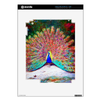 Pintura del pavo real del vintage skin para el iPad 2