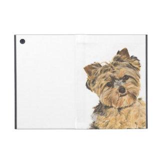 Pintura del perrito de Yorkshire Terrier iPad Mini Cobertura