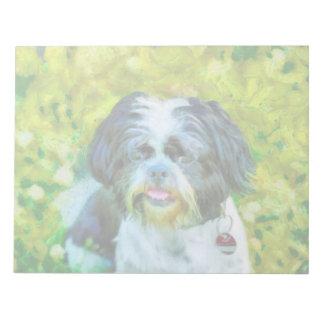 Pintura del perro bloc de notas