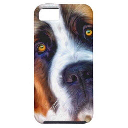 Pintura del perro de St Bernard iPhone 5 Cobertura
