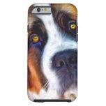 Pintura del perro de St Bernard Funda Para iPhone 6 Tough