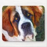 Pintura del perro de St Bernard Mousepad