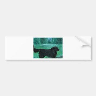 Pintura del perro de Terranova Pegatina Para Auto
